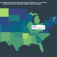 Minimum Wage And Share Of Workers Earning Equal To Or Less Than 150 Percent Of The Minimum Wage In 2012 By State